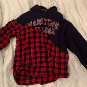 Lf furst of a kind college/ flannel hoodie